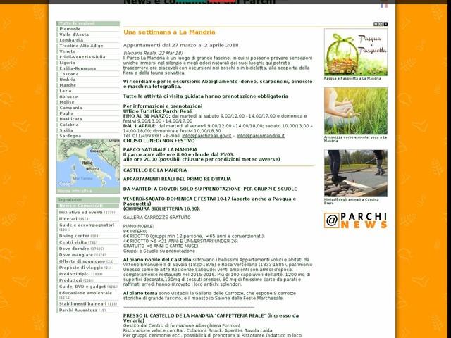 Ente di gestione delle aree protette dei Parchi Reali - Una settimana a La Mandria
