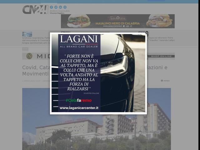 Covid, Catanzaro: termina raccolta fondi di Associazioni e Movimenti civici