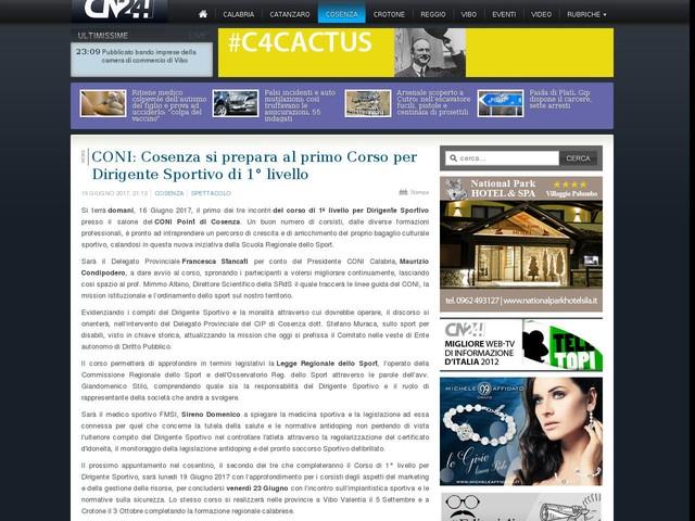CONI: Cosenza si prepara al primo Corso per Dirigente Sportivo di 1° livello