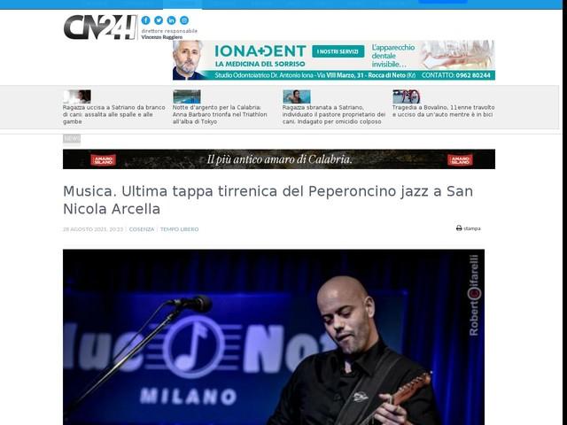Musica. Ultima tappa tirrenica del Peperoncino jazz a San Nicola Arcella