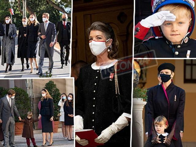 Sfilano i reali di Monaco: da Carolina con i capelli bianchi ai gemelli di Charlene