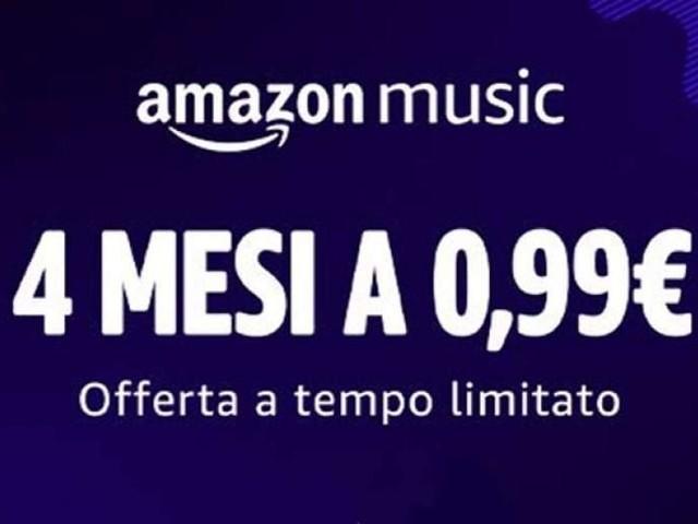 Amazon Music Unlimited: 4 mesi in offerta a 0,99 Euro