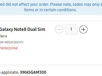 Risparmiare 300€ sul Note 8, 249€ sui Galaxy S8 e 210€ sul Tab S3 grazie a dei codici sconto di Samsung Italia