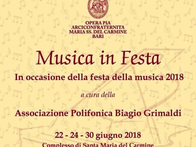 """""""Musica in Festa"""", nel borgo antico di Bari tanti eventi di cultura e spettacolo per celebrare la musica come linguaggio universale"""