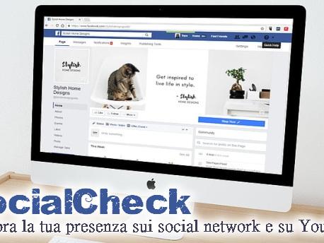 SocialCheck | migliora la tua presenza sui social network e su YouTube - Web Apps Magazine