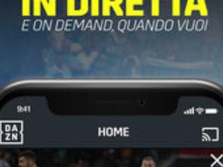 DAZN: Diretta Calcio e Sport si aggiorna alla vers 2.4.8