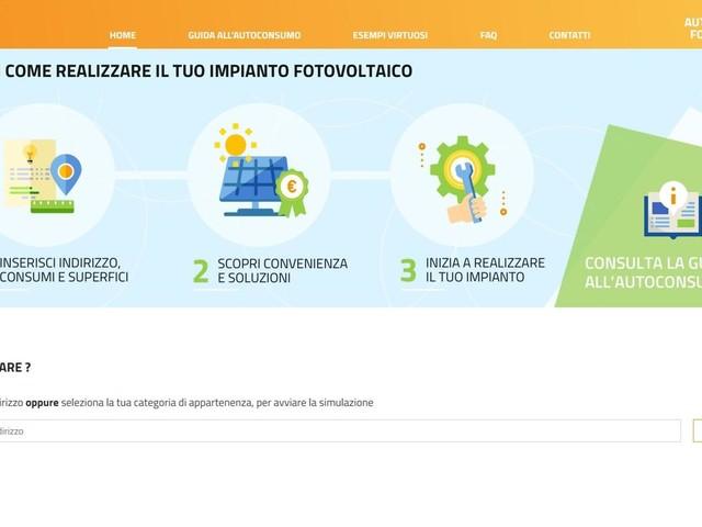 Online portale Gse per diffondere autoconsumo fotovoltaico