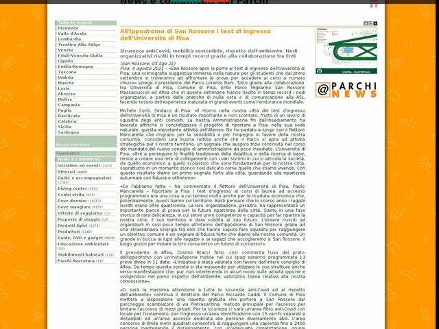 PR Migliarino San Rossore Massaciuccoli - All'ippodromo di San Rossore i test di ingresso dell'Università di Pisa