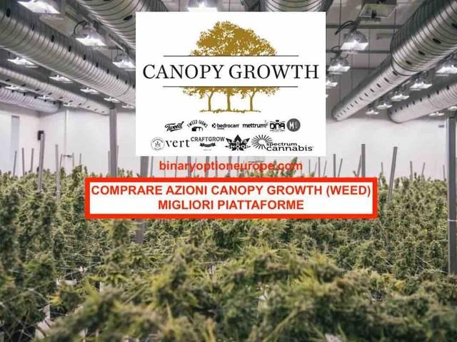Comprare azioni Canopy Growth (weed): guida miglioripiattaforme