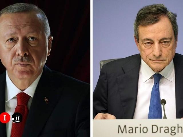"""Erdogan risponde a Draghi: """"Impertinente e maleducato"""""""