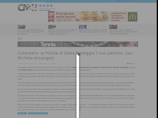 Catanzaro: la Polizia di Stato festeggia il suo patrono, San Michele Arcangelo