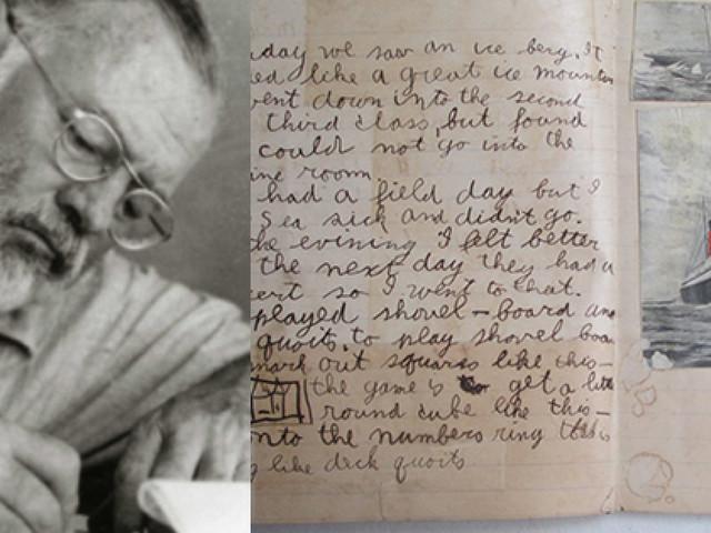 Dalla furia di Irma spunta il primo racconto di Hemingway scritto a soli dieci anni