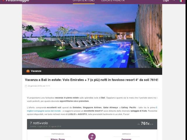 Vacanza a Bali in estate: Volo Emirates + 7 (o più) notti in ...