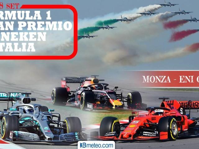Gp Formula 1 d'Italia, Monza 2019. info, DATI, parcheggi e PREVISIONI METEO aggiornate