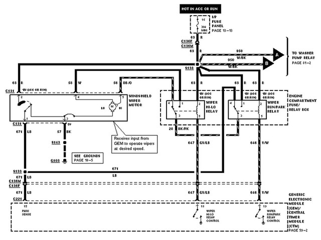 Ranger Wiper Wiring Diagram