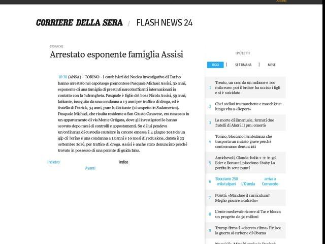 Arrestato esponente famiglia Assisi