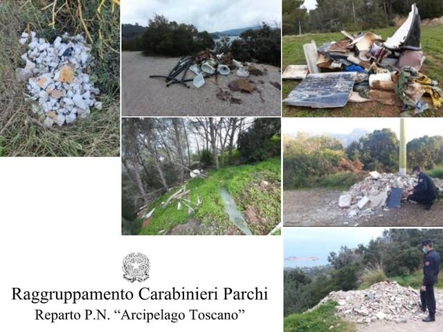 Isola d'Elba: blitz dei Carabinieri Forestali contro le discariche abusive. Denunce e sanzioni
