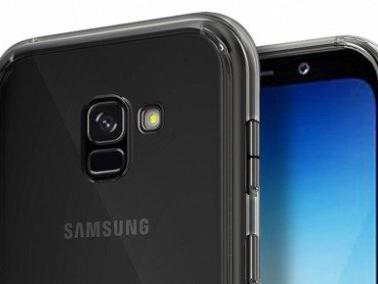 Samsung Galaxy A8 (A5 2018) mostrato in alcuni render con cover colorate