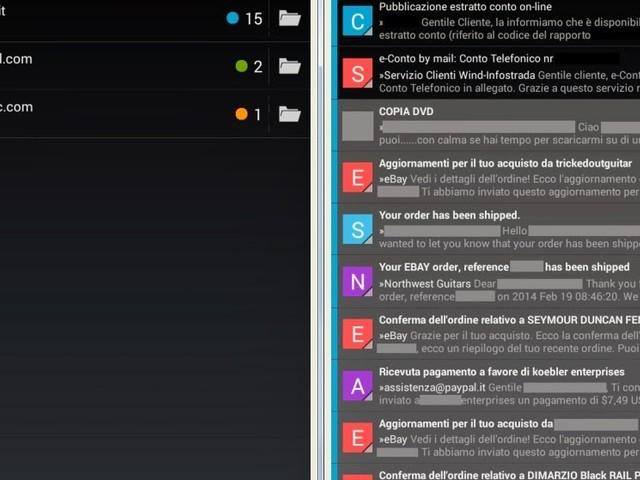 K-9 Mail:Il miglior client di posta Android