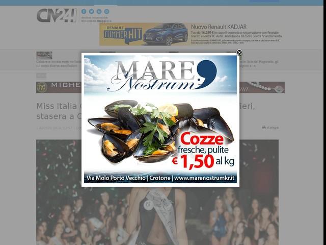 Miss Italia Calabria: trionfa la 25enne Annalisa Alfieri, stasera a Crotone