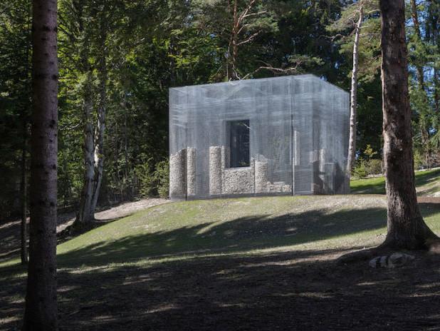 Edoardo Tresoldi realizza una sua nuova architettura in rete per Arte Sella in Trentino
