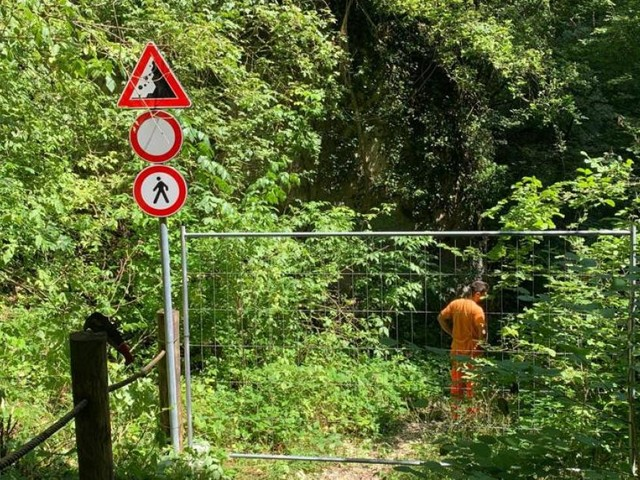 """San Severino,""""Pericolo caduta massi"""": chiuso il sentiero di Sant'Eustachio in Domora"""