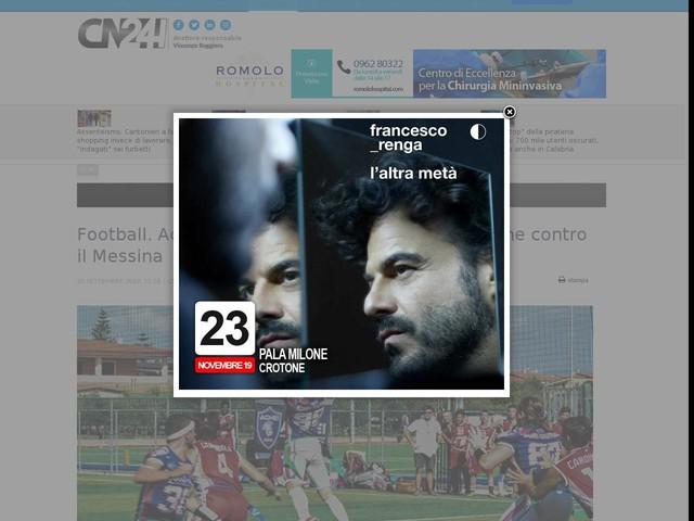 Football. Achei pronti all'ultima sfida della stagione contro il Messina