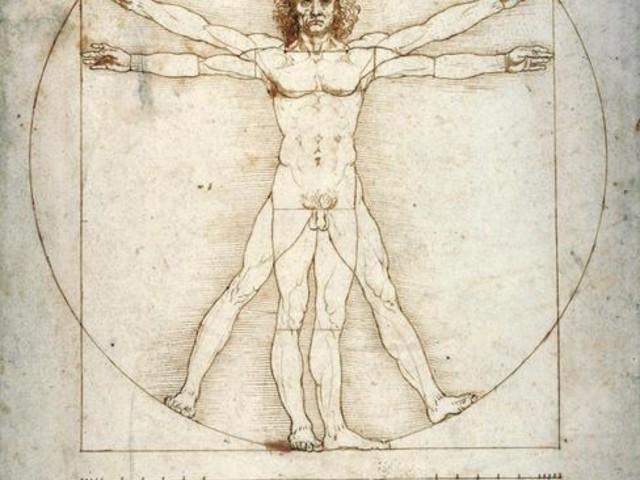 L'Uomo Vitruviano, modello del mondo