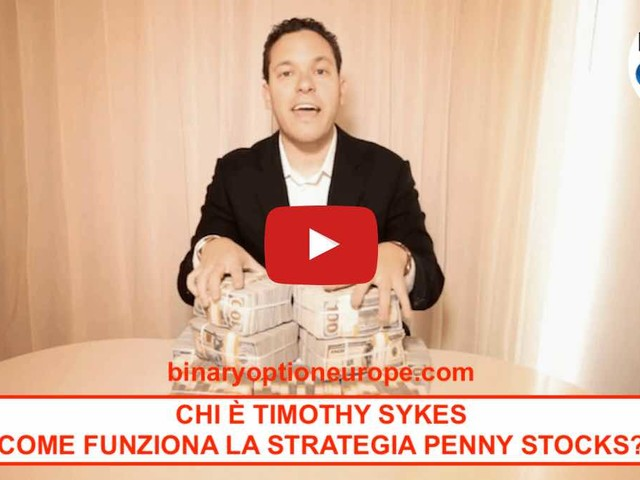 Timothy Sykes italiano: chi è come funziona la strategia Penny Stock