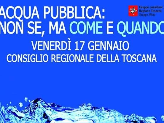 Rossi: «L'acqua deve tornare pubblica»