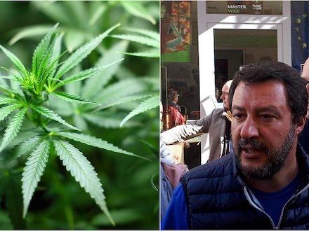 Salvini esulta per la chiusura degli shop di cannabis, per Giuseppe Conte «non è all'ordine del giorno»