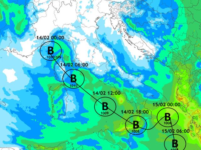 Veloce minimo depressionario sul Centro-Sud: neve a quote basse!