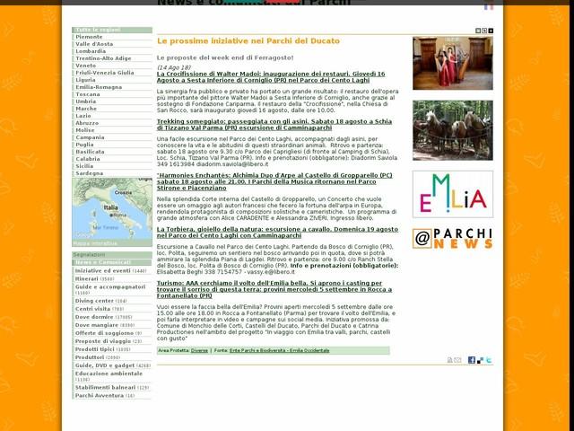 Ente Parchi e Biodiversità - Emilia Occidentale - Le prossime iniziative nei Parchi del Ducato