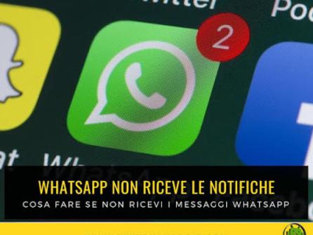 [Soluzione] Whatsapp funziona solo se lo apro e non ricevo le notifiche?