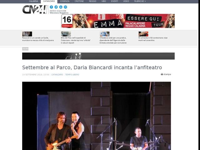 Settembre al Parco, Daria Biancardi incanta l'anfiteatro
