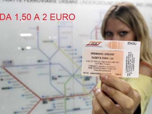 ATM: aumento biglietti a 2 euro da maggio