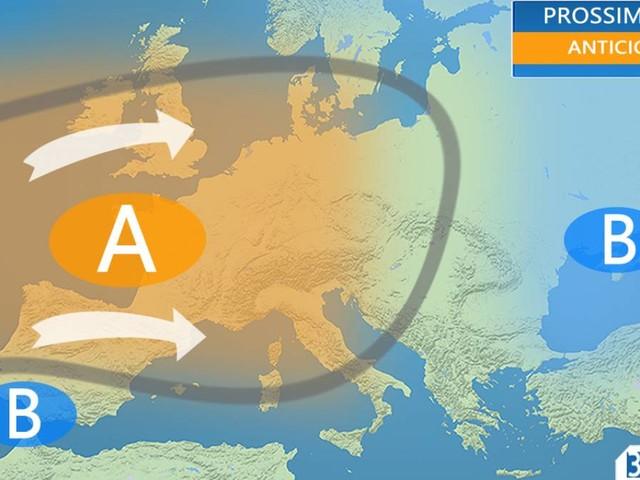 METEO ITALIA - ANTICICLONE per almeno 7-8 GIORNI, temperature sopra media