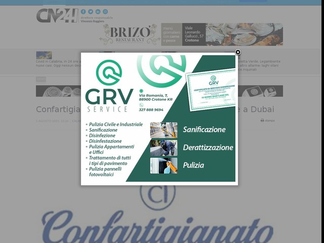 Confartigianato Imprese Calabria porta le imprese a Dubai