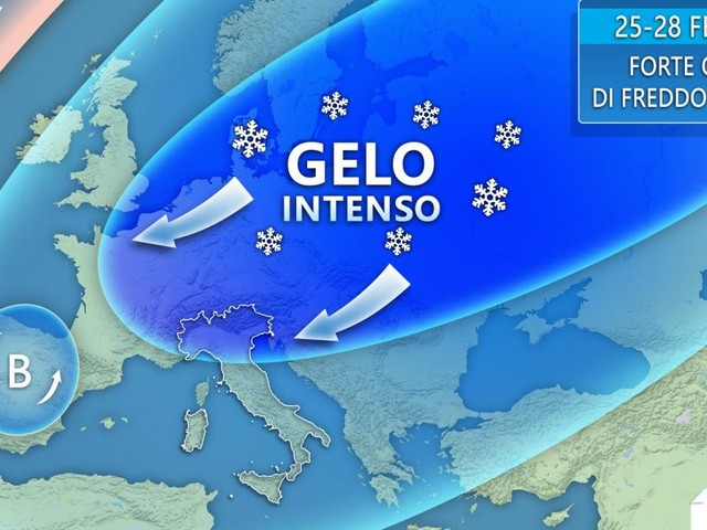 Maltempo: ondata di freddo al centro-sud e nevicate durante il fine settimana
