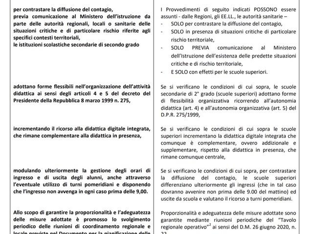 Comunicato USR Emilia Romagna 19 ottobre 2020