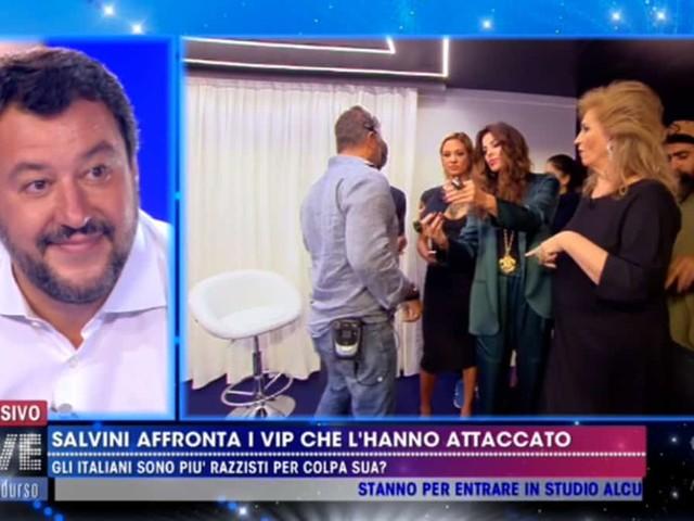 Matteo Salvini, a Live – Non è la D'Urso botta e risposta con Asia Argento e Alba Parietti   video Mediaset