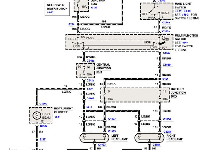 Ford F350 Headlight Wiring Diagram