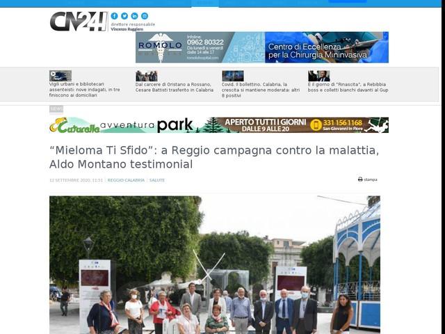 """""""Mieloma Ti Sfido"""": a Reggio campagna contro la malattia, Aldo Montano testimonial"""
