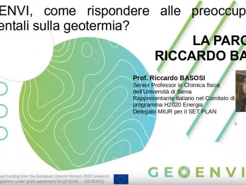 Geoenvi, come rispondere alle preoccupazioni ambientali sulla geotermia? La parola a Riccardo Basosi