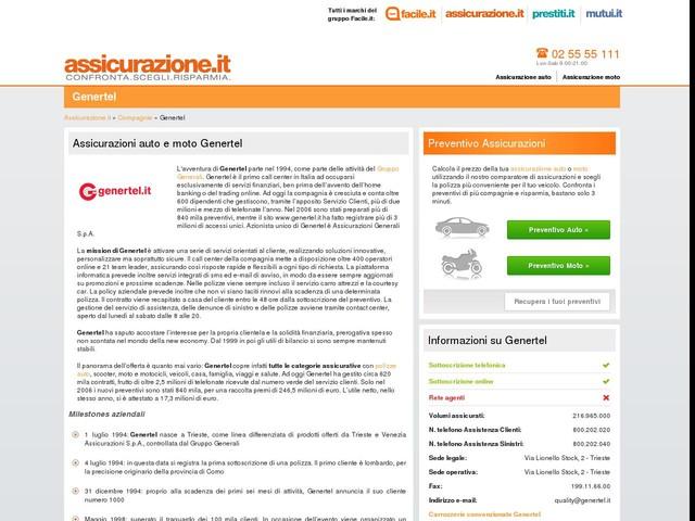 Assicurazioni Genertel | Calcola il preventivo per la tua assicurazione rc auto Genertel online. | Assicurazione.it