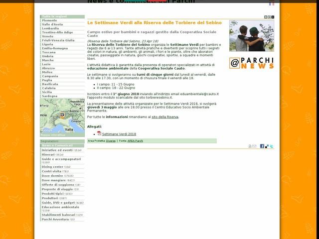 AREA Parchi - Le Settimane Verdi alla Riserva delle Torbiere del Sebino
