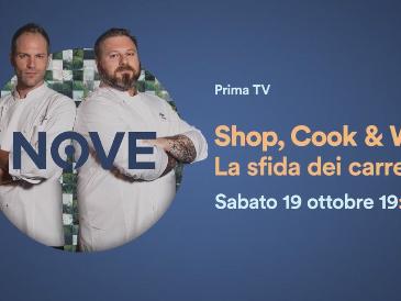 Shop, Cook & Win!, Rugiati e Torretta su Nove in un branded show tra carrelli e fornelli