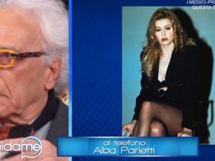 """Giampiero Mughini e Alba Parietti, lite a Vieni da Me: """"Vali quattro soldi"""", """"Sai chi era mio padre?"""""""