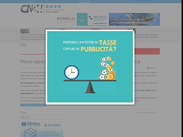 Piano spiaggia Reggio, al via consultazione pubblica