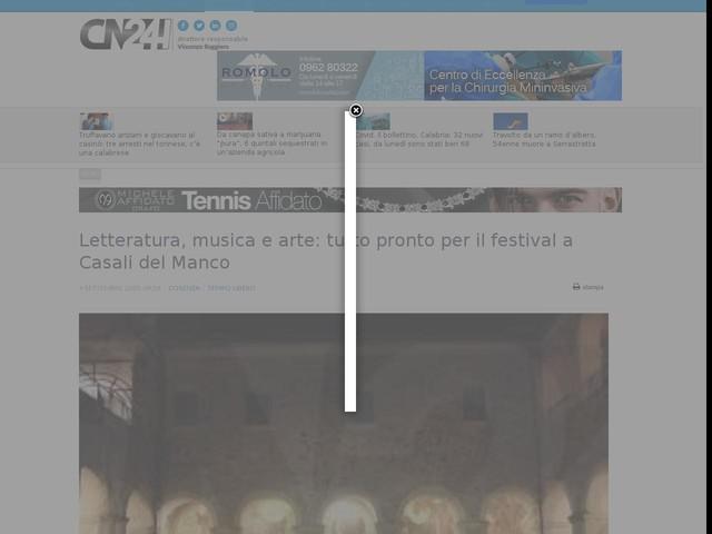 Letteratura, musica e arte: tutto pronto per il festival a Casali del Manco